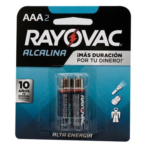Bateria Alcalina Rayovac AAA2 - 2 Unidades