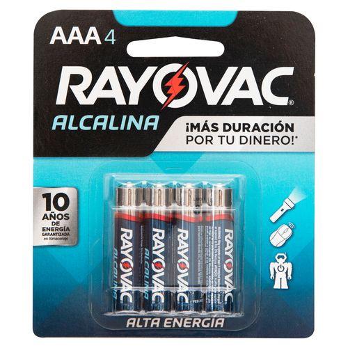 Bateria Rayovac Alcalina AAA - 4 Unidades