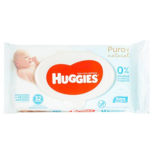 Toalla Huggies Humeda Natural Care - 32unidades