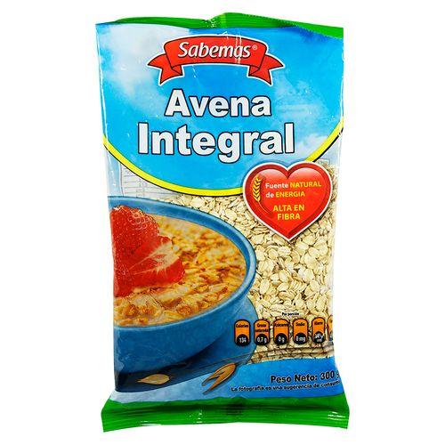 Sabemas Avena Integral Bolsa - 300gr