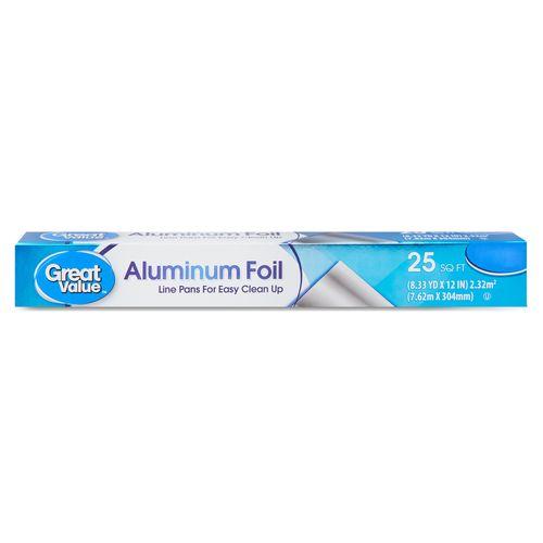 Papel Aluminio Great Value 25 Pies - 1 Unidad